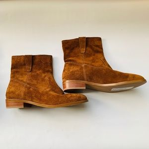 NWT! REBECCA  MINKOFF Suede Boots Rust/Brown 7.